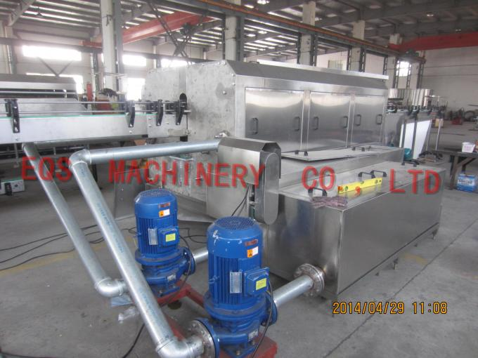 Auto 56-82 mm Diameter Glass Bottle Cleaning Machine 90% Clean Up Rate
