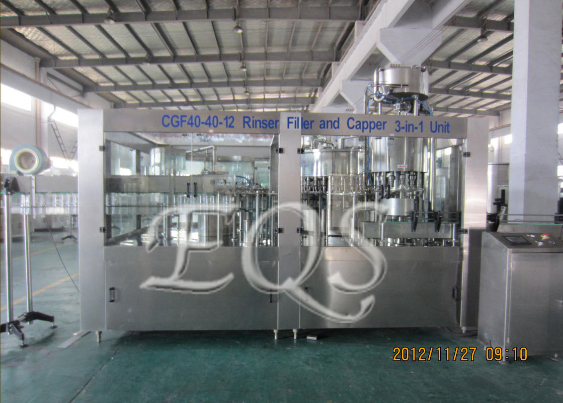 3 IN 1 Automatic Water Bottle Filling Machine 20000 Bottles Per Hour CGF40-40-12