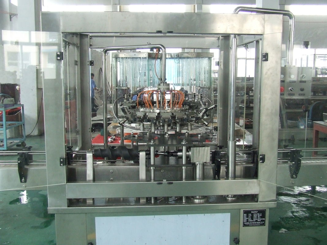 380V 3Phase Automatic High Speed Bottle Washing Machine For Beer Machine