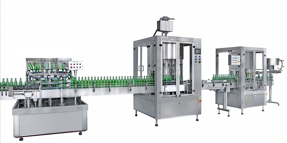 Linear Type Engine Oil Filling Sealing Machine 1.5kw for 200ml - 6000ml Bottle