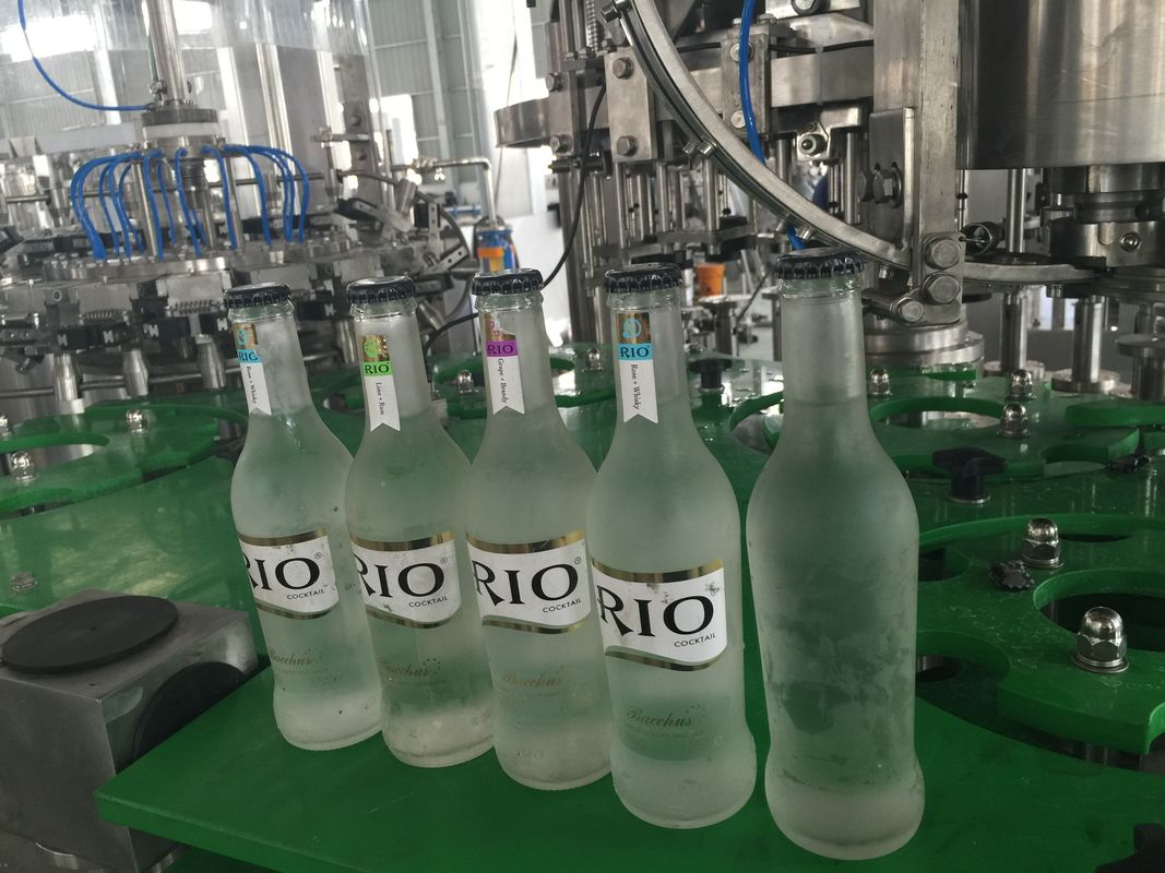 Small Glass Bottle Champagne / Sparkling Wine Filling Machine , High Efficiency 3 in1 Filling Machine