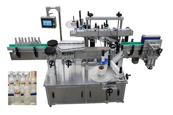 3PH Automatic Labeling Machine , 6000BPH Round Bottle Labeling Equipment