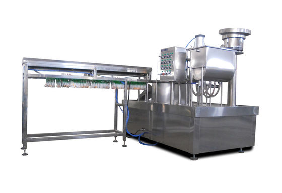 Full Automatic Stand Up Pouch Filling Machine 3000-4000 Bags / Hour With Leak - Proof Nozzles